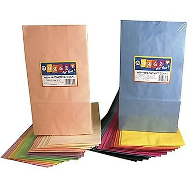 Hygloss® 15in. x 12in. Pinch Bottom Craft Paper Bag, Rainbow