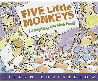 Classic Children's Books, Five Little Monkeys Jumping on the Bed, Paperback