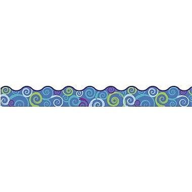 Trend - Bordure ondulée à tourbillons Terrific T-92150 39 pi x 2,25 po, multicolore, 108/paquet (T-92150)