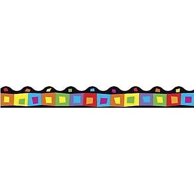 Trend Enterprises® Pre-kindergarten - 9th Grades Scalloped Terrific Trimmer, Silly Squares