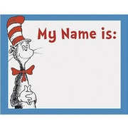 Eureka Infant - 3rd Grades Name Tag, Cat In The Hat, 320/Pack (EU-659750)