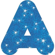"Trend Enterprises® Casual Sparkles Ready Uppercase Letter, 4"", Blue"