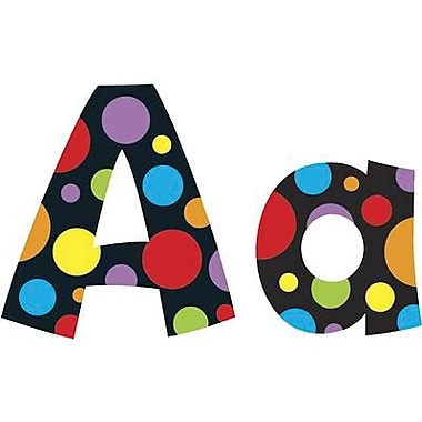 Trend Enterprises - Ensemble de lettres Playful Combo Ready Letters, 4 po, pois fluorescents, 648/paquet (T-79754)