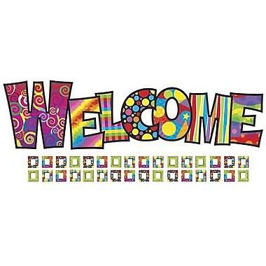 Trend Enterprises Bulletin Board Set, Razzle-dazzle Welcome, 70/Pack (T-8247)