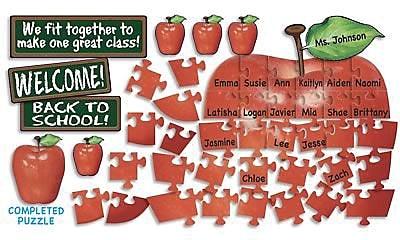 Teacher's Friend Puzzle Bulletin Board Sets, Welcome! Apple