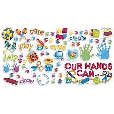 Scholastic Teacher's Friend Bulletin Board Set, Our Hands Can, 51/Pack (TF-8040)