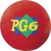 "Martin Sports® Playground Ball, Red, 6""(Dia)"