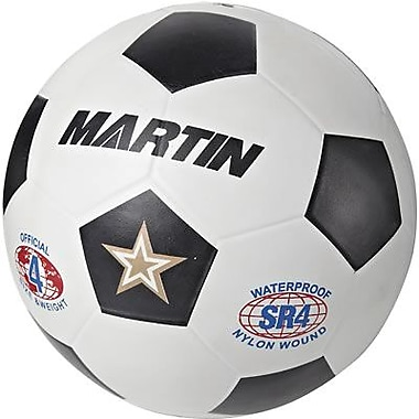 Martin Sports® Soccer Ball, Black and White, Size 4