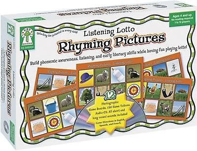 Key Education Listening Lotto, Rhyming Pictures