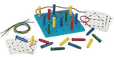 Lauri® Toys Beads & Lacing, Stringing Pegs & Pegboard Set