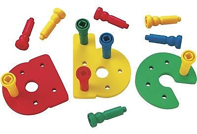 Lauri Toys Early Activities, Pegboard Set, Lowercase 847324