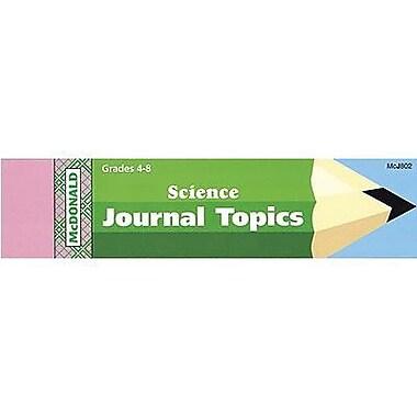 McDonald Publishing® Journal Booklet, Science