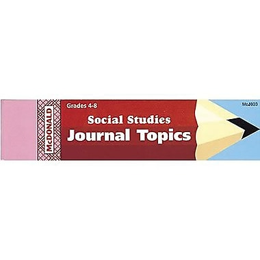 McDonald Publishing® Journal Booklet, Social Studies