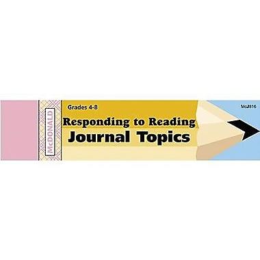 McDonald Publishing® Journal Booklet, Responding To Reading