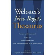 Houghton Mifflin® Webster's New Roget's Thesaurus Book, Office Edition