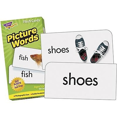 Trend Enterprises® Picture Words Flash Cards, Grades Kindergarten - 2nd (T-53004)