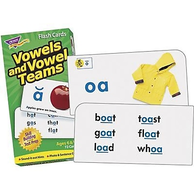 Trend Enterprises® Vowels and Vowel Teams Skill Drill Flash Cards, Grades 1th - 3rd (T-53008)