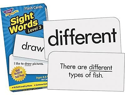 Trend Enterprises® Sight Words Skill Drill Flash Cards, Level 3, Grades 1st - 3rd