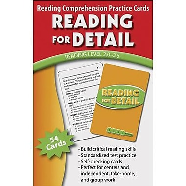 Edupress Reading Comprehension Practice Card, Reading For Detail, Reading Level 2.0 - 3.5 (EP-3061)
