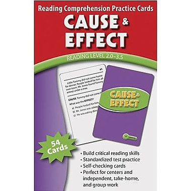 Edupress® Reading Comprehension Practice Card, Cause and Effect, Reading Level 2.0 - 3.5