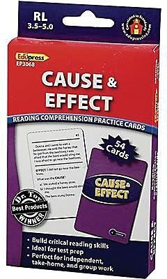 Edupress™ Reading Comprehension Cards, Cause & Effect, Lvl: 3.5-5.0
