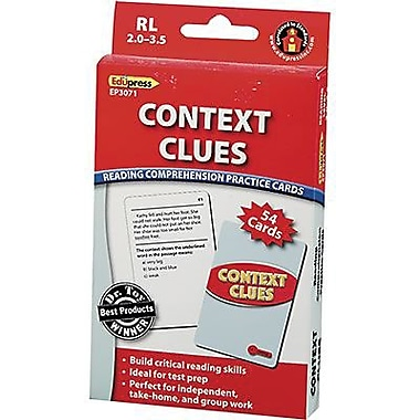 Edupress® Context Clues Reading Comprehension Practice Cards