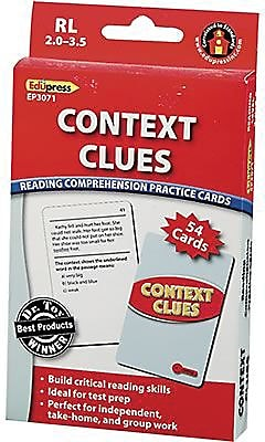 Edupress™ Reading Comprehension Cards, Context Clues, Lvl: 2.0-3.5