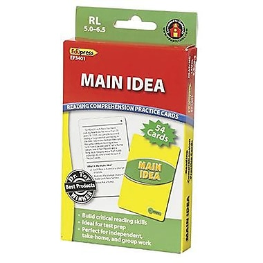 Edupress Reading Comprehension Practice Card, Main Idea, Reading Level 5.0 - 6.5 (EP-3401)