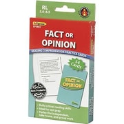 Edupress® Reading Comprehension Practice Card, Fact Or Opinion, Reading Level 5.0 - 6.5
