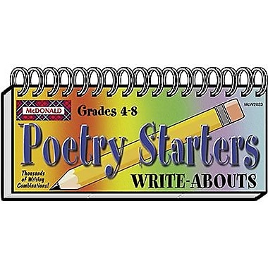 McDonald Publishing® Poetry Starters Write-Abouts Booklet, Grades 4th - 8th