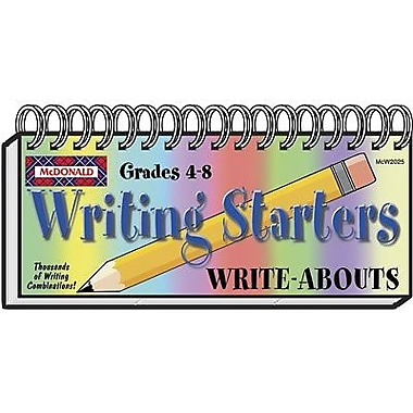 McDonald Publishing Writing Starters Write-Abouts Booklet, Grade 4 - 8 (MC-W2025)
