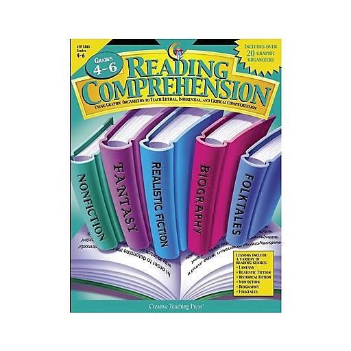 Creative Teaching Press™ Reading Comprehension Graphic Organizers Book,  Grades 4th - 6th