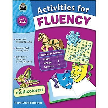 Teacher Created Resources Fluency Activities Book, Grade 3 - 4 (TCR8051)
