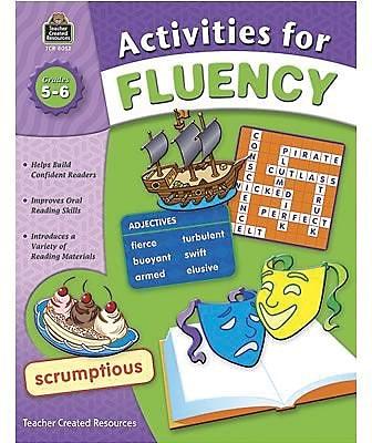 Teacher Created Resources Activities for Fluency Books, Grade 5-6
