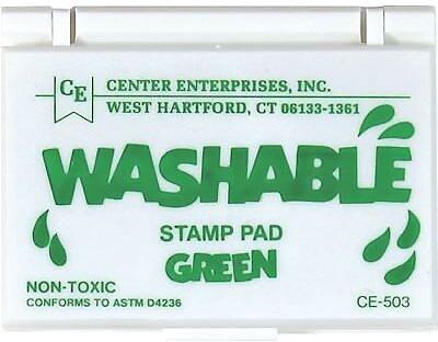 Center Enterprises® Washable Stamp Pad, Green (CE-503)