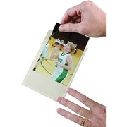 "Ashley Clear Self-Adhesive Photo/Index Card Pocket, 6""(H) x 4"", 100/Pack (ASH10407)"