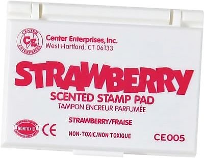 Center Enterprises® Scented Stamp Pad, Strawberry/Hot Pink (CE-05)
