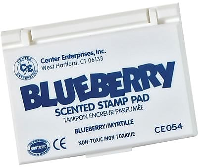 Center Enterprises® Scented Stamp Pad/Refill, Blueberry/Blue (CE-54)