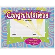 "Trend Enterprises Spirals Congratulations Certificate,8 1/2"" X 11"", 120/Pack (T-2954)"