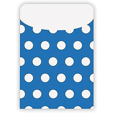 Top Notch Teacher Products® Peel and Stick Polka Dots Pocket, Blue, 25/pack (TOP6032)