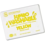 Center Enterprises Jumbo Washable Stamp Pad, Yellow Ink (CE-5501)