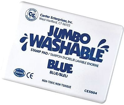 Center Enterprises® Jumbo Washable Stamp Pad, Blue