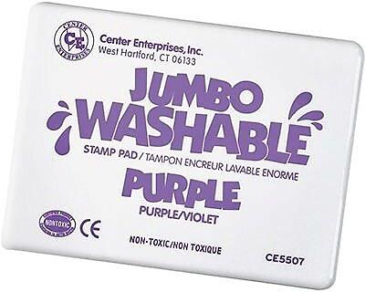Center Enterprises® Jumbo Washable Stamp Pad, Purple