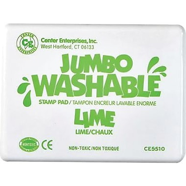 Center Enterprises® Jumbo Washable Stamp Pad, Lime Green