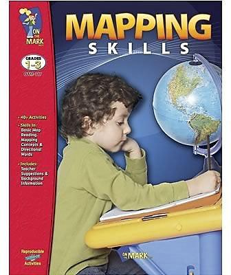 On The Mark Press Mapping Skills, Grade 1-3