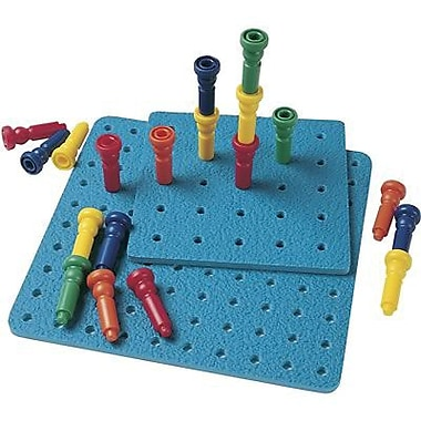 Patch Products Lauri Toys Tall Stacker Pegs And Pegboard Set, 25/Pack (LR-2444)