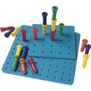 Lauri® Toys Tall Stacker Pegs and Pegboard Set
