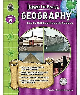Teacher Created Resources Down to Earth Geography Books, Grade 6
