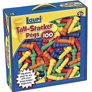 Lauri® Toys Tall Stacker Pegs Only, Set Of 100