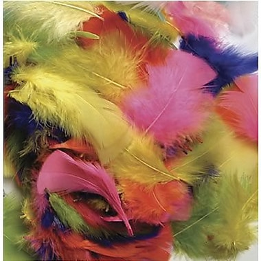 Chenille Craft Bright Hues Feathers, 14 Gram, 1500/Pack (CK-450001)